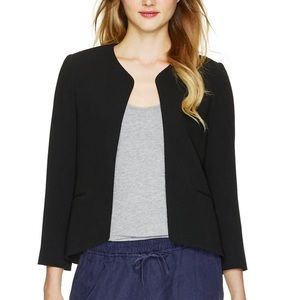 Aritzia Wilfred Exquis Black Crepe Jacket